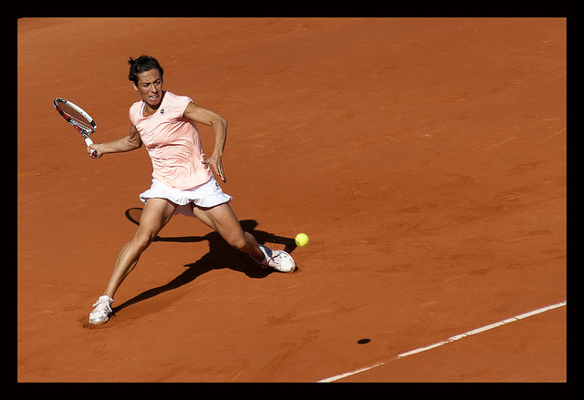 Francesca Schiavone at the French Open Roland Garros