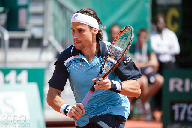 David Ferrer at the Monte Carlo Masters 1000 in Monaco