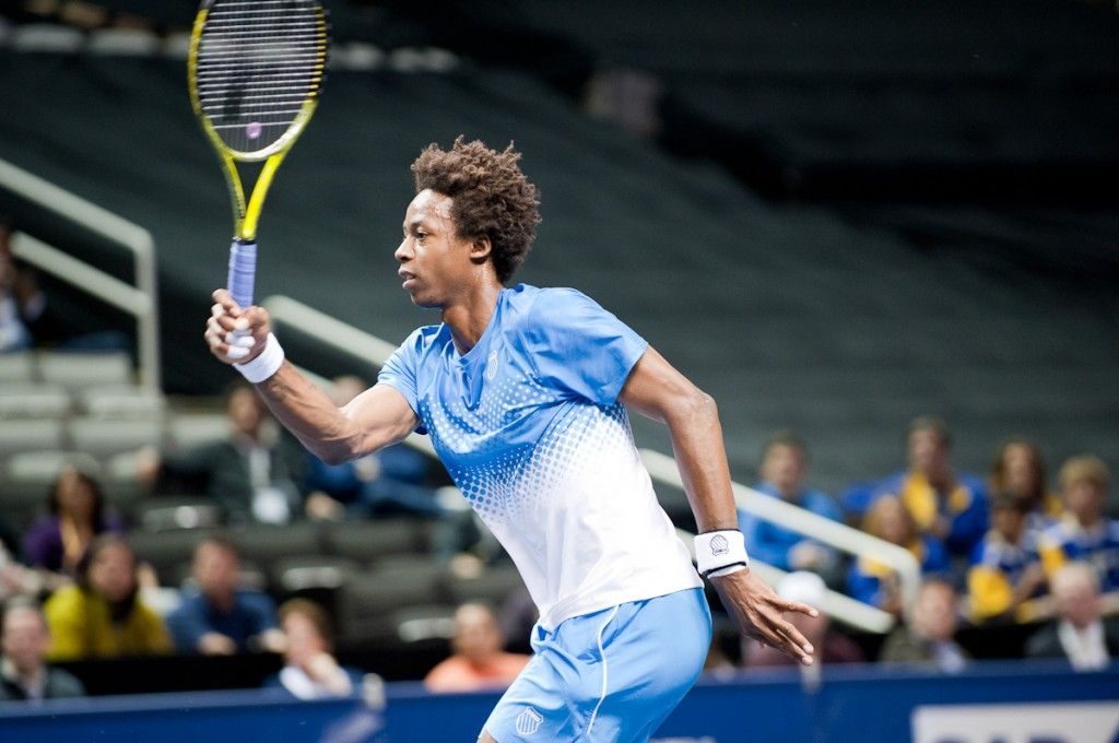 Gael Monfils at the 2011 SAP Open in San Jose
