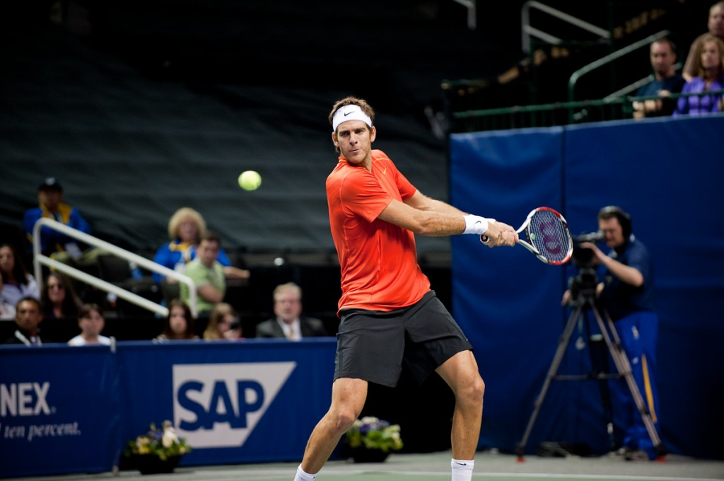 Juan Martin del Potro at the SAP Open in San Jose