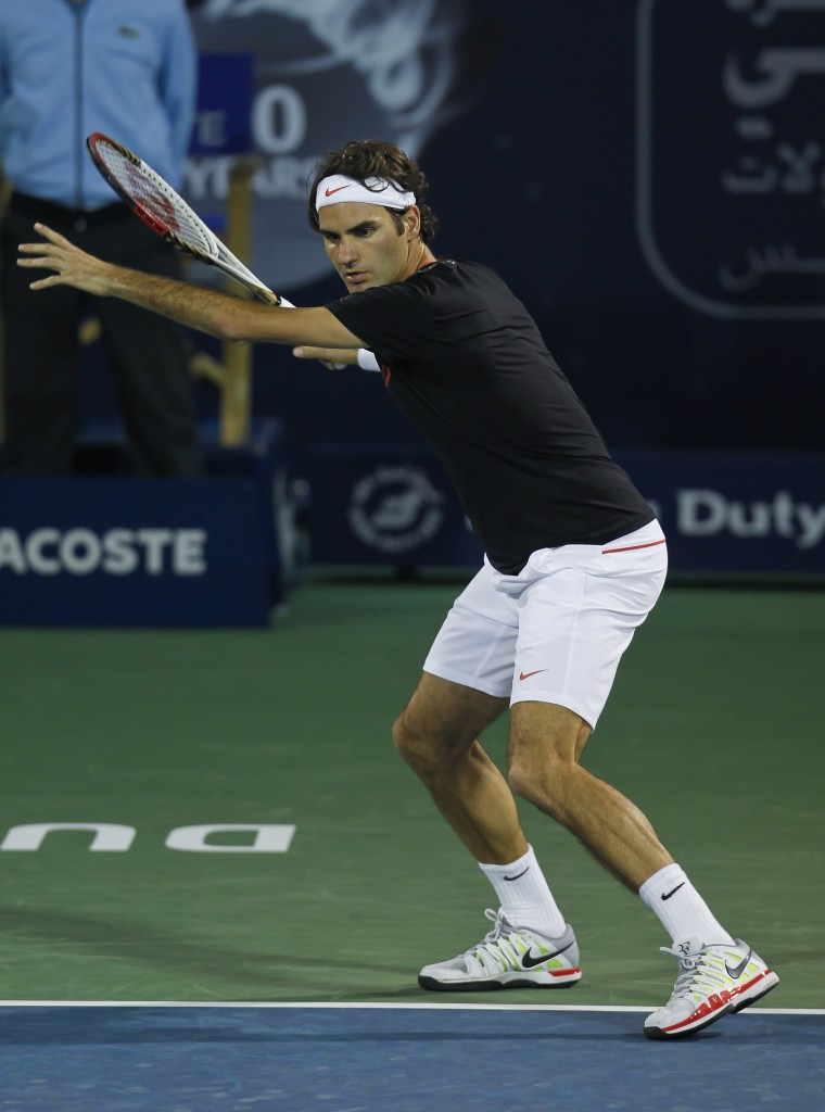 Roger Federer at the Dubai Open