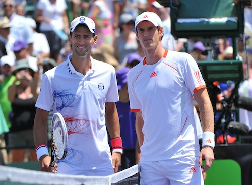 Novak Djokovic and Andy Murray