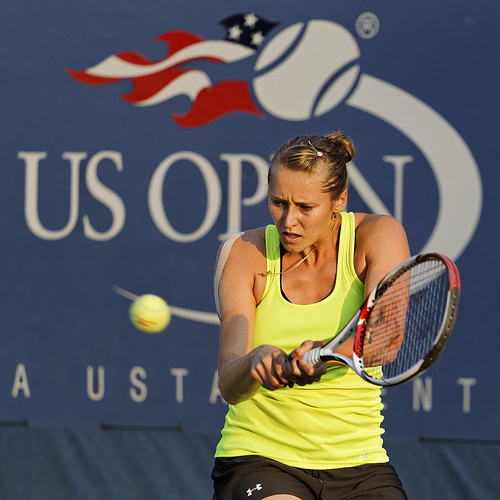 Olga Puchkova at the 2012 US Open