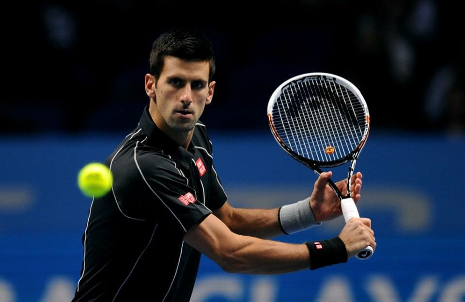 Novak Djokovic at the ATP Tour Finals in London
