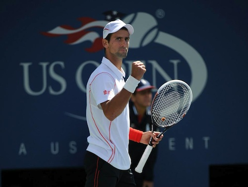 Novak Djokovic at US Open 2013