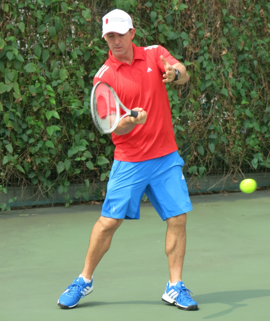 Tennis Lessons Singapore email info@oncourtadvantage.com or text +65 9830 2678 Jay forehand