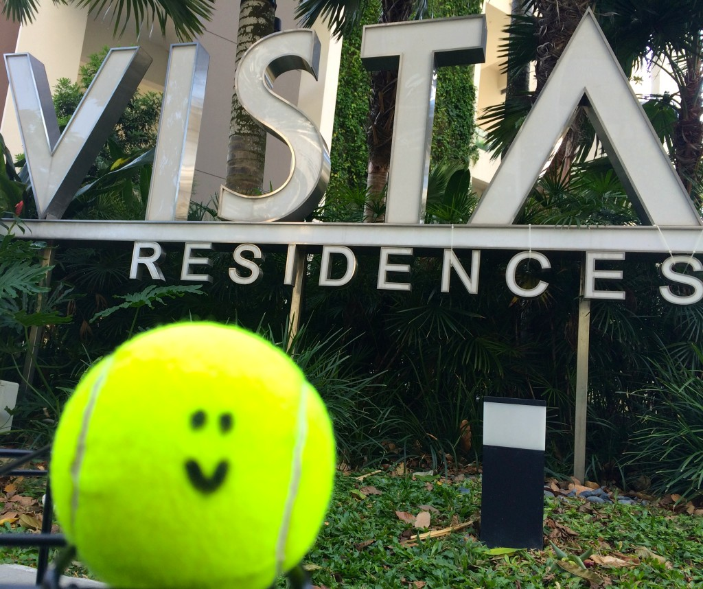 Tennis Lessons in Singapore at Vista Residences email info@oncourtadvantage.com