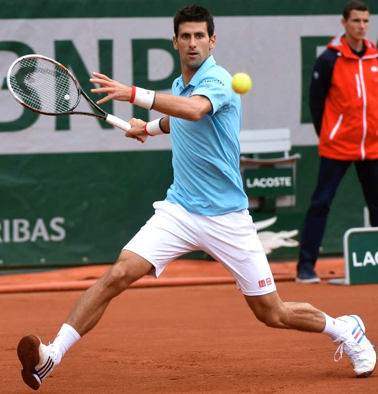 Novak Djokovic at Roland Garros 2014 runner-up