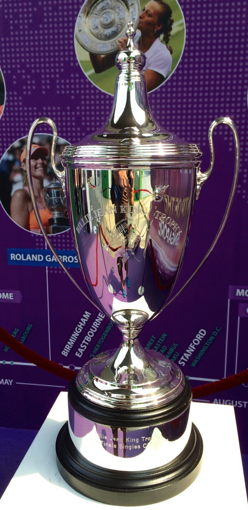 Billie Jean King trophy for WTA Finals singles champion