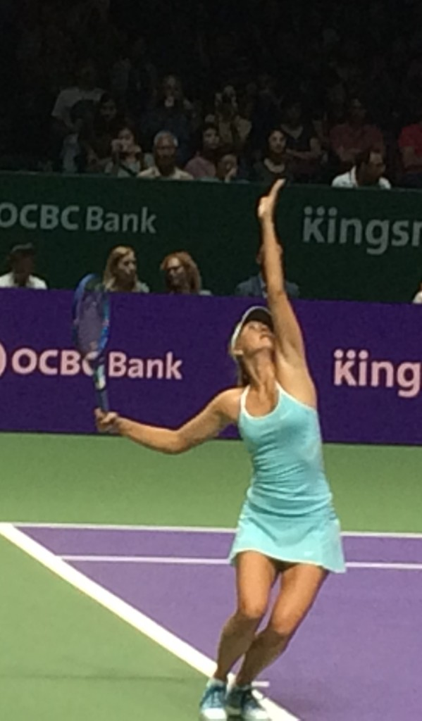 Maria Sharapova WTA Finals Singapore 2015 Day 1